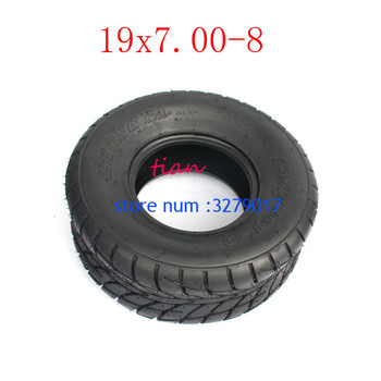 2PCS GO KART KARTING ATV UTV Buggy 19X7.00-8 Inch Wheel Tubeless Tyre Tire