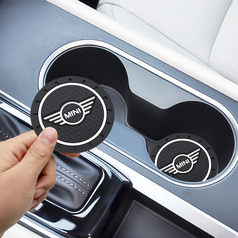 1/2pcs Car-Styling PVC Car non-slip coaster Mat Case For BMW Mini Cooper One S JCW R55 R56 R60 F55 F56 Countryman accessories