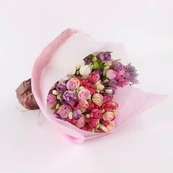 Корейский стиль цветная бумага полупрозрачная подкладка пергаментная бумага простой сплошной цвет цветочный букет цветочный упаковка