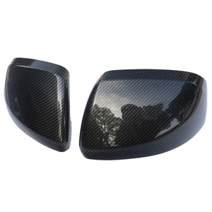 Cor de fibra de carbono porta espelho capa traseira overlay 2014-2018 para mercedes benz vito valente metris w447 acessórios do carro