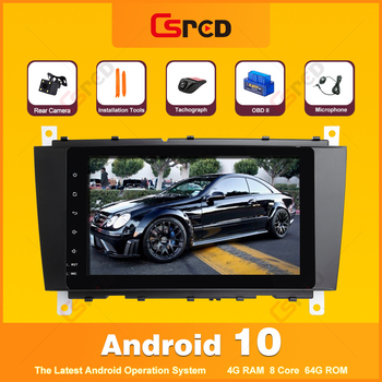 Csred Android 10 For Mercedes Benz C W203 CLK W209 Volkswagen Crafter LT3 GPS Navigation Car Intelligent Multimedia Auto Radio image