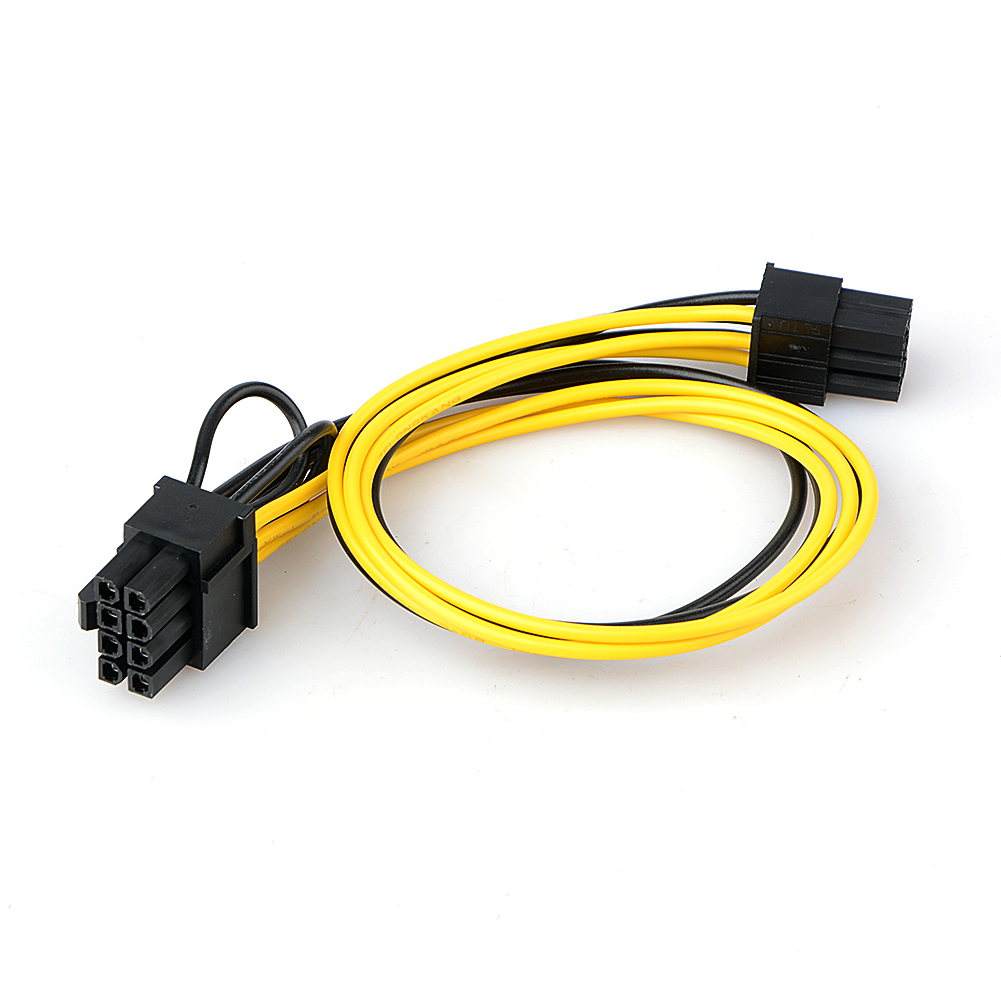 <font><b>6</b></font> <font><b>Pin</b></font> male to 8 <font><b>Pin</b></font> (<font><b>6</b></font>+<font><b>2</b></font>) male PCI Express Power Adapter <font><b>Cable</b></font> for Graphics Video Card image