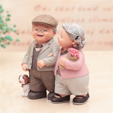 Grandparents Model Ornament Creative Sweety Lovers Couple Ornaments Modern Home Decoration Living Room For Office Table Gift