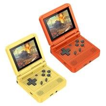 POWKIDDY V90 Retro Flip Handheld Game Player 3.0 inch IPS Retro Flip Handheld Console Pocket Mini Video Games Player Boy Gift