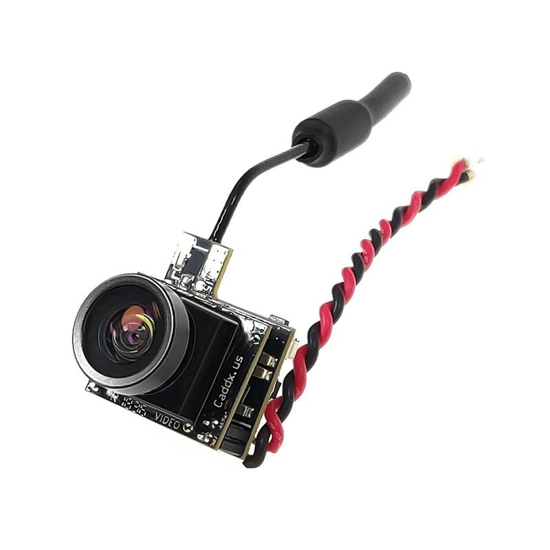 Oyuncaklar ve Hobi Ürünleri'ten Parçalar ve Aksesuarlar'de Caddx Beetle V1 5.8Ghz 48CH 25mW CMOS 800TVL 170 derece Mini FPV kamera AIO LED RC Drone için FPV yarış uçak Quadcopter title=