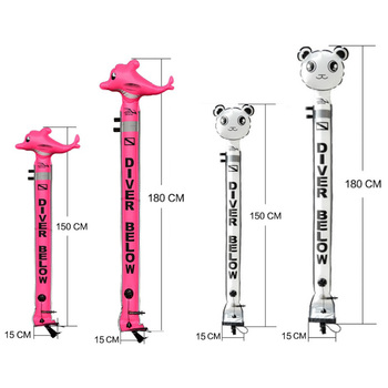High Visibility Scuba Diving SMB Surface Marker Buoy Two Sizes 4.9ft/5.9ft Scuba Gear Mechanisms Inflator Valve