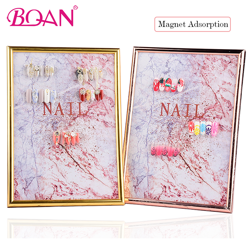 BQAN 1 Pc Nail Art Display Board Book Magnetic Adsorption Nail Gel Polish Color Card Detachable Manicure Nail Art Tool image