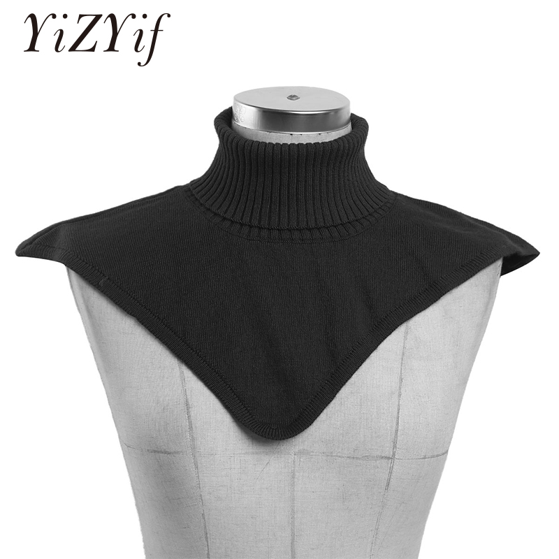 Fake Collar Women Detachable Collars High Grade Wool Turtleneck Dickey Collar Knitted Fake Collar Winter Neck Warmer Fashion