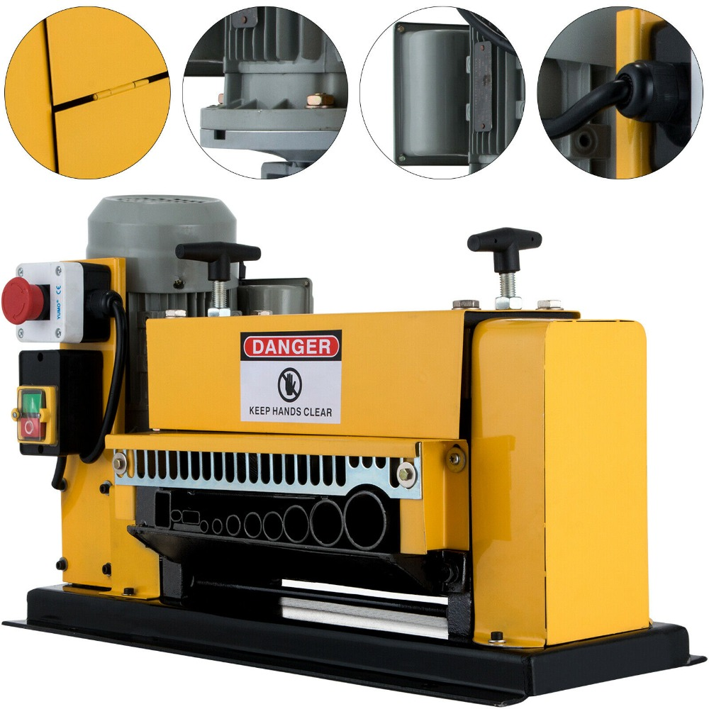 EU No Customs Fees Cable Peeling Machine Portable Powered Electric Wire Stripping Machine Metal Tool Scrap Cable Stripper
