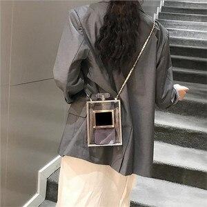 Image 5 - 2 Colors Acrylic Women Casual Black Bottle Handbags Wallet Paris Party Toiletry Wedding Clutch Evening Bag transparent bag women