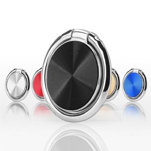 Metal Mobile Phone Ring Holder 360 Degree Rotatable Smartphone Socket Magnetic Car Bracket Socket Telephone Ring Flexible Stand