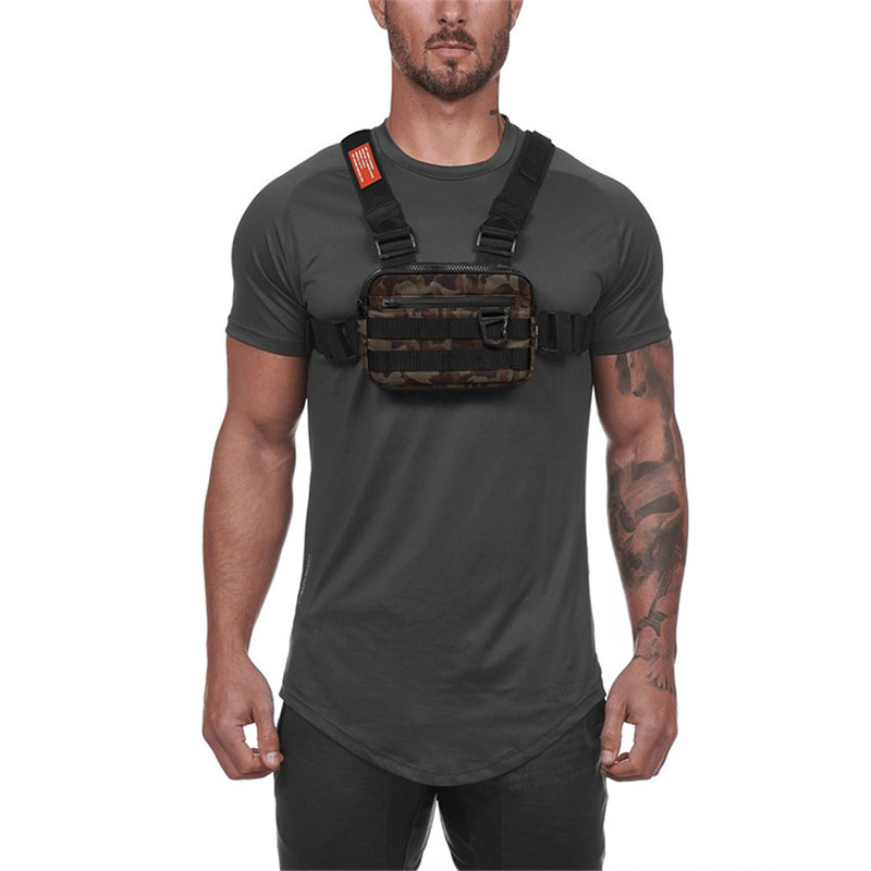2020 New Men Chest Rig Street Wear Outdoor Sports Waist Bag Military Climbing Shoulder Bag Phone Money Belt Tactical Chest Bags