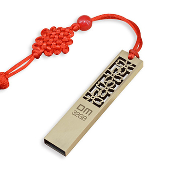 DM USB Flash drive Metal 8GB 16GB 32GB 64GB Pen Drive Storage Memory Disk Simple Style for Computer PC Tablet With Chinese Knot