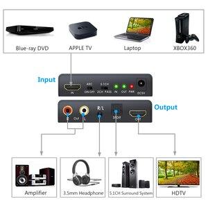 Image 2 - LiNKFOR HDMI 2.0 오디오 추출기 지원 4K 60Hz YUV 4:4:4 HDMI 변환기 어댑터 HDR HDMI 광학 TOSLINK SPDIF 오디오