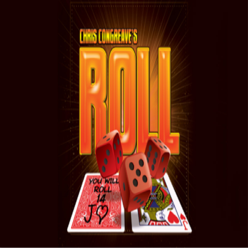 Roll (Gimmicks And Online Instructions) By Chris Congreave Mentalism Magic Tricks Close Up Magic Props Card Magia Illusions Fun