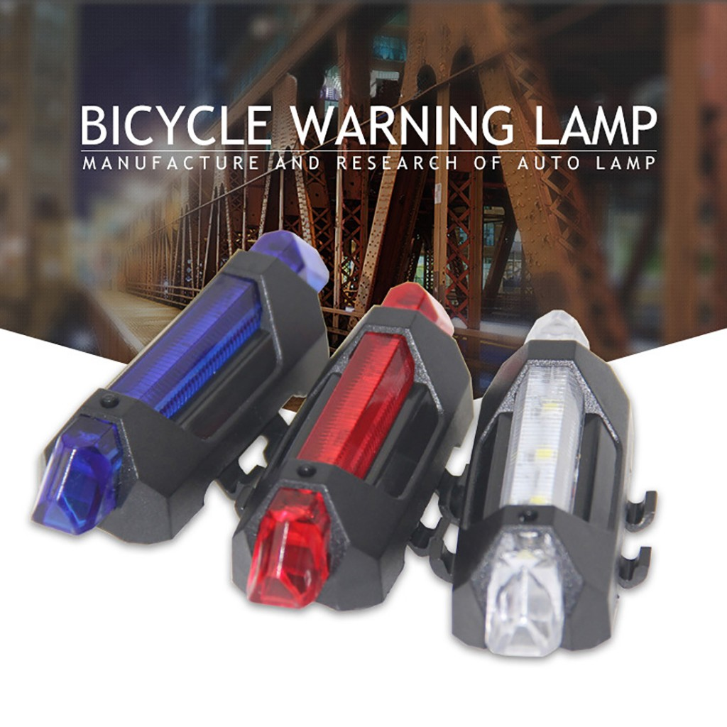 Bike Bicycle light Rechargeable LED Taillight USB Rear Tail Safety Warning Cycling light Portable Flash Light Super Bright @35