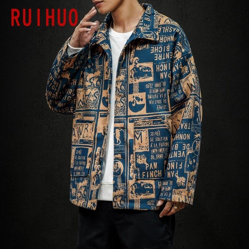 RUIHUO Casual Mens Jacket Coat Streetwear Men Jacket Korean Style Bomber Jacket Men Clothing M-5XL 2021 New Arrival