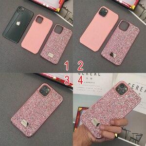 Image 3 - Knipperende Strass Telefoon Case Voor iphone 11 Pro Max 2 in 1 Diamond Glitter Vrouwen Terug Case Voor iphone Xs max Gevallen, CKHB DD