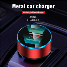Car Charger With LED Dual USB Fast Charger For Xiaomi Huawei