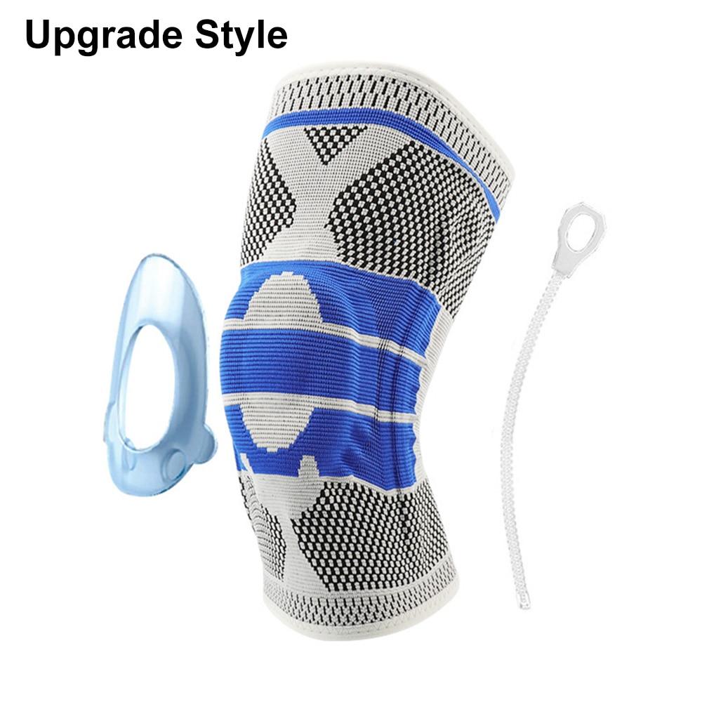 Противоскользящие наколенники для поддержки суставов, Защитные Спортивные наколенники, дышащие, 1/2 шт, мощность подъема, мощная сила отскока, наколенник - Цвет: Upgrade 1