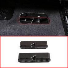 2 uds negro cubierta embellecedora de salida de aire bajo el asiento para BMW X5 G05 X6 G06 2019-2020 la izquierda Interior del coche accesorios