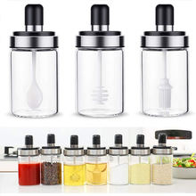 Кухонные стеклянные банки для специй коробка приправ банка соли