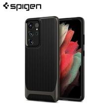 "Spigen Neo עבור Samsung Galaxy S21 Ultra (6.8 "")  כפול שכבתי הגנה Drop התנגדות וכריכות"