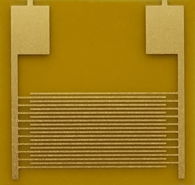 100um Flexible Interdigital Electrode Capacitor Array Sensor Chip PI