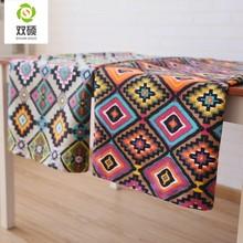Tovaglia da ristorante in cotone e lino in stile mediterraneo in tessuto bohémien tovaglia quadrata antiscottatura per la casa cov