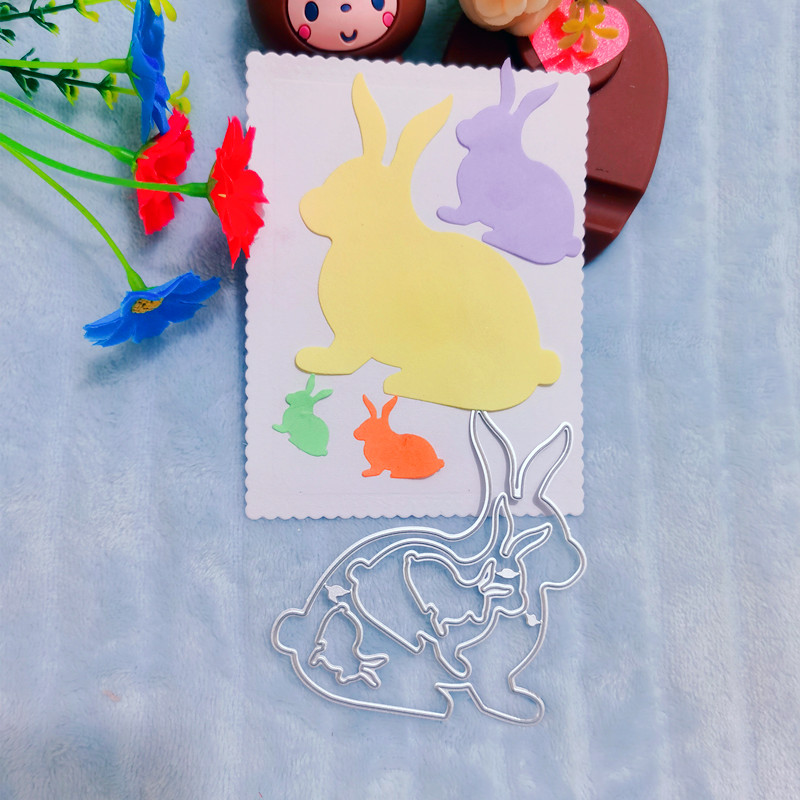 Coelhinho da páscoa metal corte de matrizes para papel de parede scrapbooking diy artesanato decorativo gravando morrer cortes