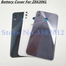 6.2 インチ Asus Zenfone 5 5 2018 ZE620KL 5Z ZS620KL 裏表紙バッテリーカバーハウジングパネル修理ガラスカメラガラス