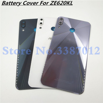 6.2 inch For Asus Zenfone 5 2018 ZE620KL 5Z ZS620KL Back Cover Battery Cover Housing Panel Repair Glass With Camera Glass
