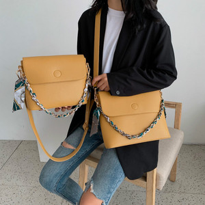 Image 2 - Wild Texture Crossbody Bags Womens Handbag The New Fashion PU Womens Solid Color Chain Shoulder Bags