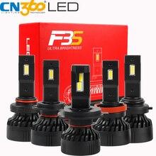 CN360 2 adet H7 9005 HB3 9006 HB4 H4 H11 Canbus LED far ampulü 10000LM 6500K 45W 12V araba ışık BMW için Audi için tüm arabalar için
