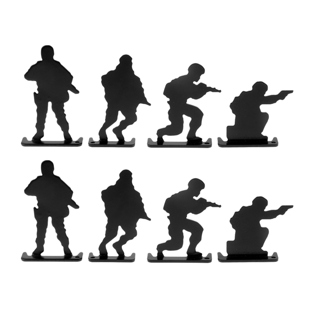 8pcs Metal Shooting Targets Soldiers Silhouette For Shooting Training Competition Practice