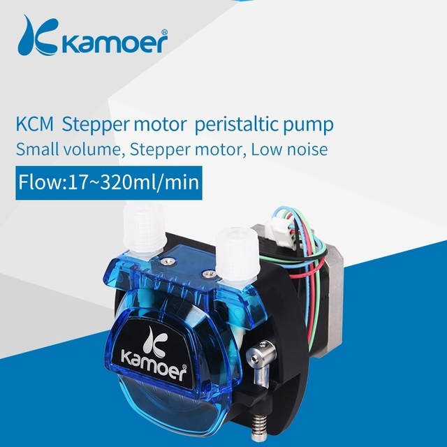 Kamoer KCM 12V/24V  Peristaltic  Water Pump With Stepper Motor and BPT/Silicon Tube Support Self Priming