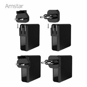 Image 5 - Amstar 61 w 듀얼 usb c 타입 c pd 고속 충전기 macbook pro air 화웨이 hp 노트북 태블릿 듀얼 빠른 충전 3.0 전원 어댑터