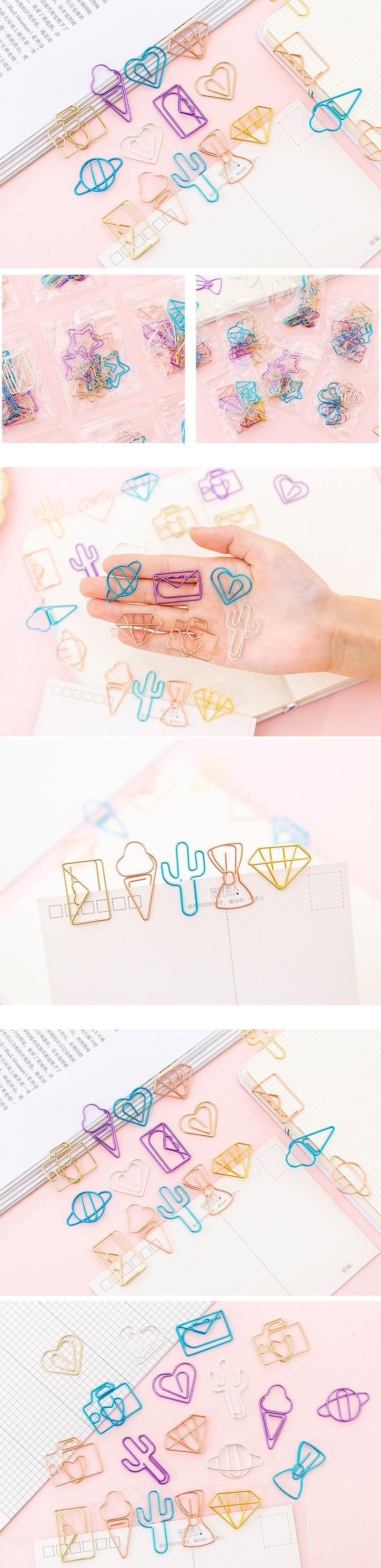 10 шт./партия металлический милый конверт мороженое студенческий Закладка планировщик бумажный зажим материал Эсколар закладки для книги канцелярские принадлежности