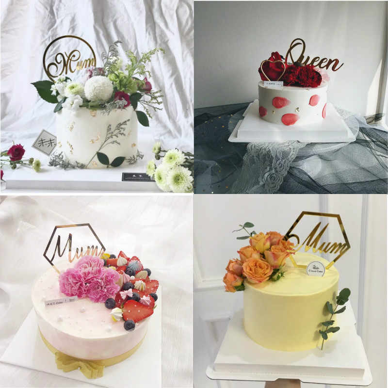 Stupendous Cakelove 1Pcs Acrylic Cake Topper Happy Mothers Day Mum Queen Personalised Birthday Cards Cominlily Jamesorg