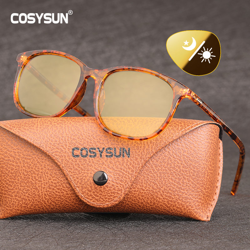 2020 luxo senhora photochromic óculos de sol mulher dia noite visão polarizada feminino sombra inteligente óculos sol