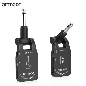 ammoon 2.4G Wireless Guitar Transmitter Audio 6 Channels Guitar Wireless Transmitter Receiver for Electric Guitar Bass(China)