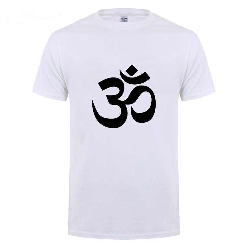 Om Aum Symbool Ontspanning T-shirt Voor Mannelijke Mannen Grappige Katoenen Korte Mouw Streetwear Jn Boeddhisme Om Mani Padme Hum T shirt