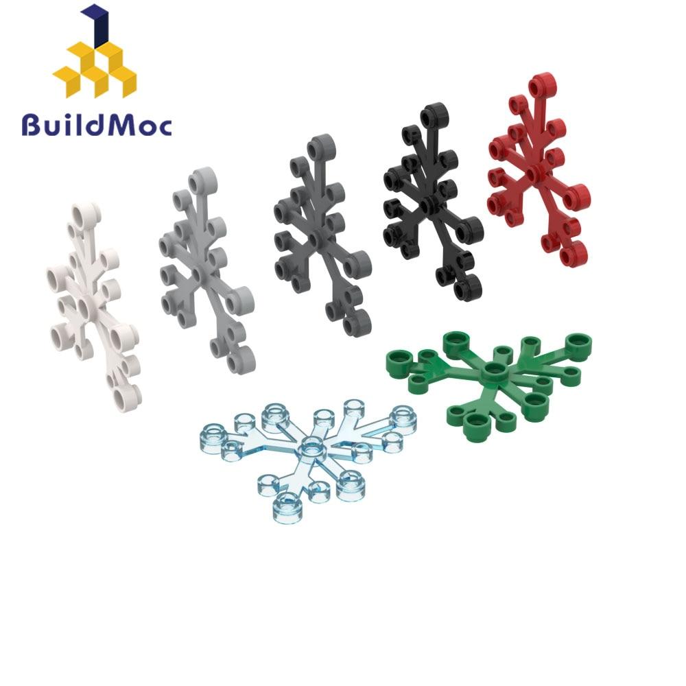 BuildMOC 2417 6x5x0,33, листья растений для строительных блоков, детали «сделай сам», строительство, классический бренд, Подарочная игрушка