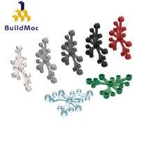 Buildmoc 2417 6x5x0.33 planta folhas para blocos de construção peças diy construção clássico marca presente brinquedo