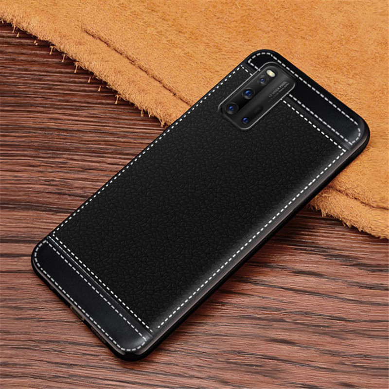 For Vivo IQOO 3 Neo 5G Case Leather Texture Soft TPU Case Fundas For Vivo IQOO 3 IQOO3 V1955A I1927 5G Coque Etui Kryt