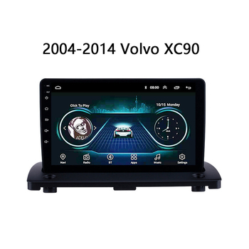 9 octa core 1280*720 QLED screen Android 10 Car GPS radio Navigation for Volvo XC90 2007-2014 image