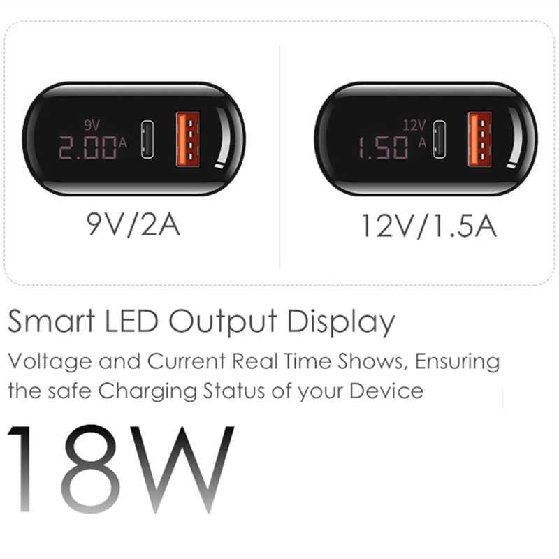 18W PD3.0 QC3.0 Màn Hình Hiển Thị LED Đa Năng ĐTDĐ Điện PD Sạc Du Lịch Treo Tường Sạc Cho iPhone iPad Samsung Xiaomi