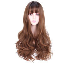 26'' Long wave Hair Wig Heat Resistant Synthetic Wigs For Wo