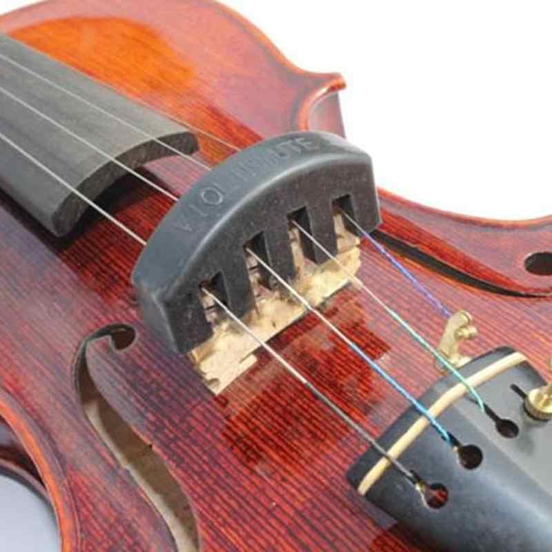 Keman sessiz parçası kauçuk keman dilsiz susturucu 4/4 3/4 1/2 Violino uygulama aksesuarları renkli kauçuk dilsiz dilsiz