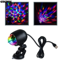 1Pc Auto Car Disco DJ Stage Lighting LED RGB Crystal Ball Lamp Bulb Light Laser Projector Party
